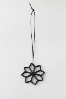 Debbie Adamson. Warretah pendant. Steel, synthetic thread. 2015