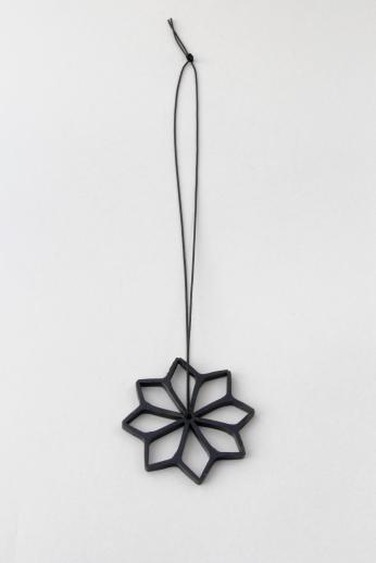 Debbie Adamson. Warretah pendant. Steel, synthetic thread. 2015